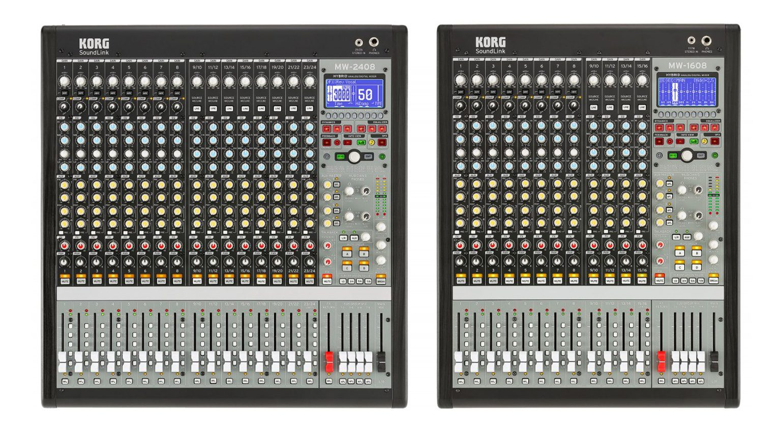 Korg MW-2408 und MW-1608