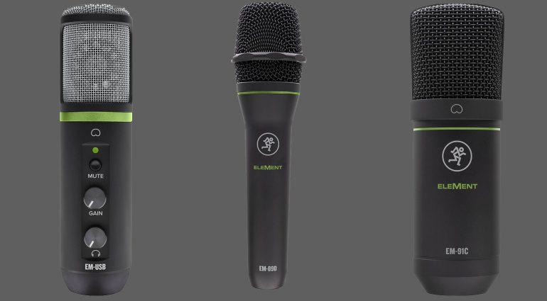 Mackie Element Mikrofone EM-C91, EM-89D und EM-USB