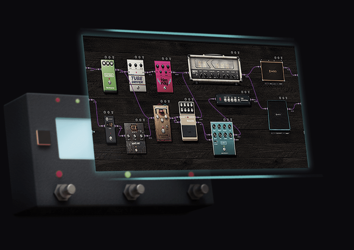 MOD Dwarf Modelling Multi Effekt Pedal Interface