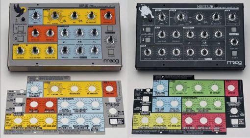 Oversynth Overlays für Moog Minitaur und Sirin