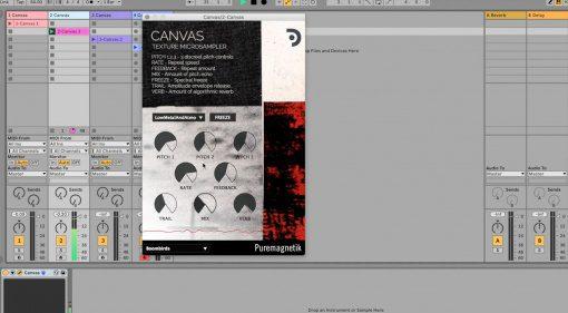 Puremagnetik Canvas: mit diesem kostenlosen Texture Microsampler Plug-in unterstützt ihr den Musiker