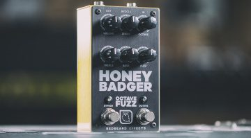 RedBeard Effects Honey Badger Octave Fuzz Front