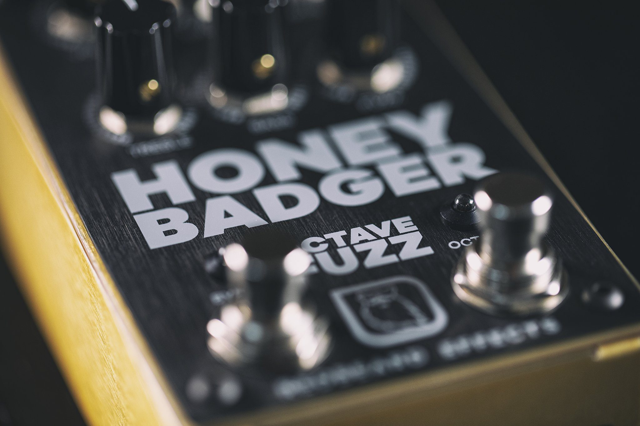 RedBeard Effects Honey Badger Octave Fuzz Front Close Up
