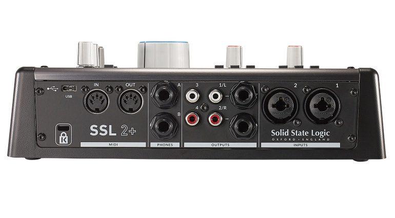 Solid State Logic SSL 2+ Rückseite