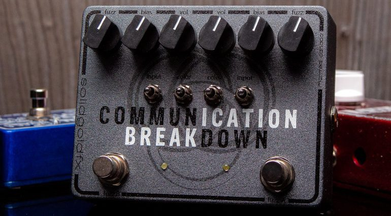 SolidGoldFX Communication Breakdown Pedal Fuzz Tonebender Front