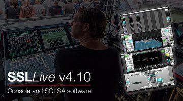 Solid State Logic Live V4.10 bringt neue Funktionen für die gesamte Palette der SSL-Live-Konsolen