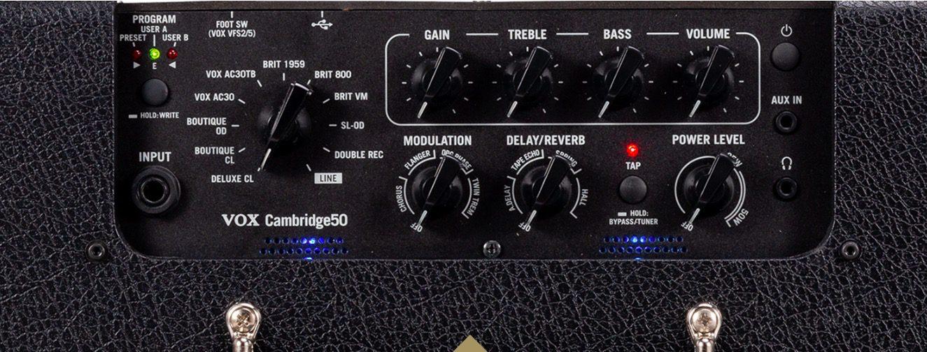 Vox Cambridge50 Combo Amp Panel