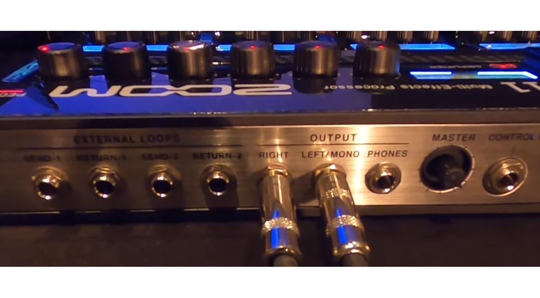 Zoom G11 Multi Effekt Pedal Rueckseite