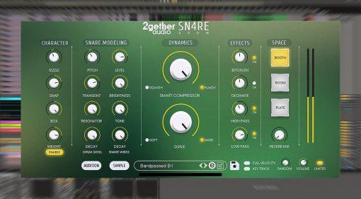 2getheraudio Sn4re: das günstige Snare Drum Synthesizer Plug-in