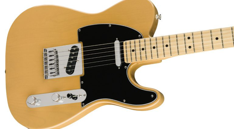 Fender Limited Edition Player Telecaster Butterscotch Blonde Body weiß