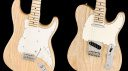 Fender limited edition Raw Ash American Performer Stratocaster and Telecaster