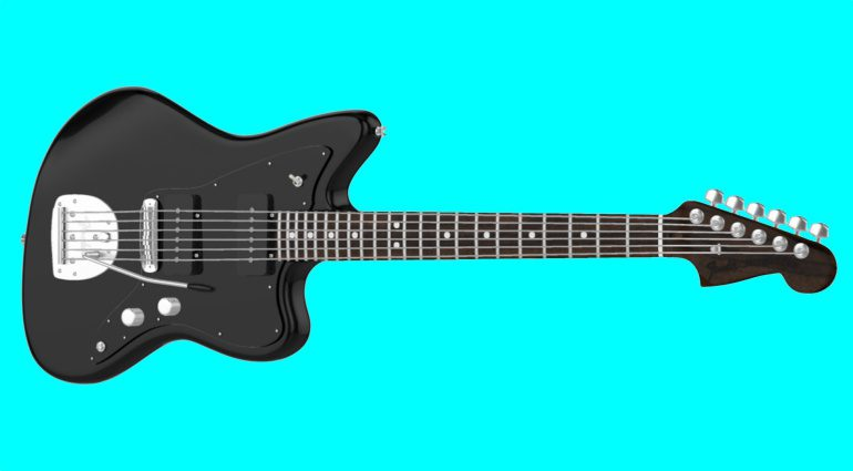Fender Mod SHop Black Jazzmaster Front