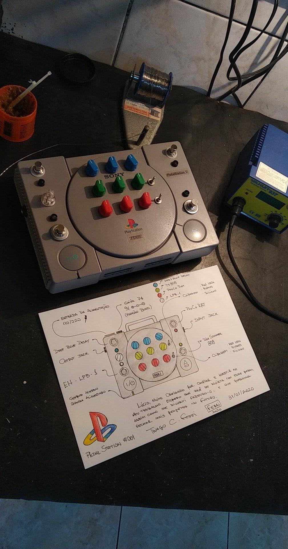 Ferri PedalStation 1 Effekt Pedal Playstation schemata