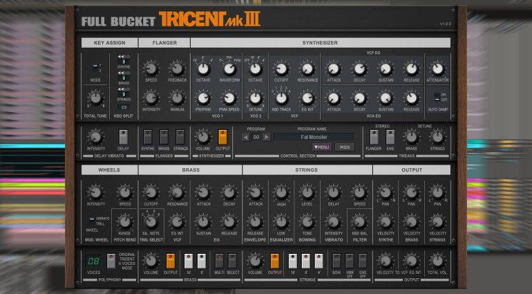 Full Bucket Music Tricent mk III: kostenlose Korg Trident Synthesizer-Emulation
