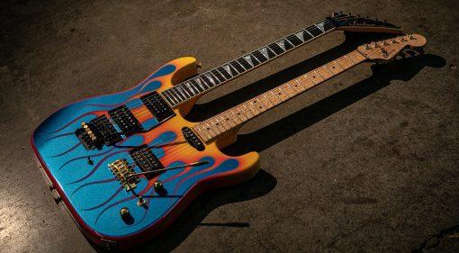 Jackson Charvel 40th Anniversary Double Neck Hot Rod Flame Gitarre