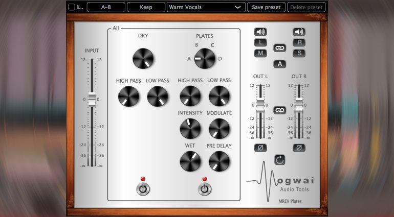 Mogwai Audiotools MREV-Plates: vier Reverbs in einem Plug-in für 14 Euro