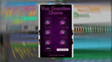 Syntheway Vox Quantizer: vielseitiger vierstimmiger stereo Chorus Effekt als Plug-in