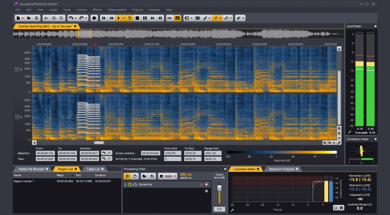 Acon Digital Acoustica 7.2 Spectral Editor