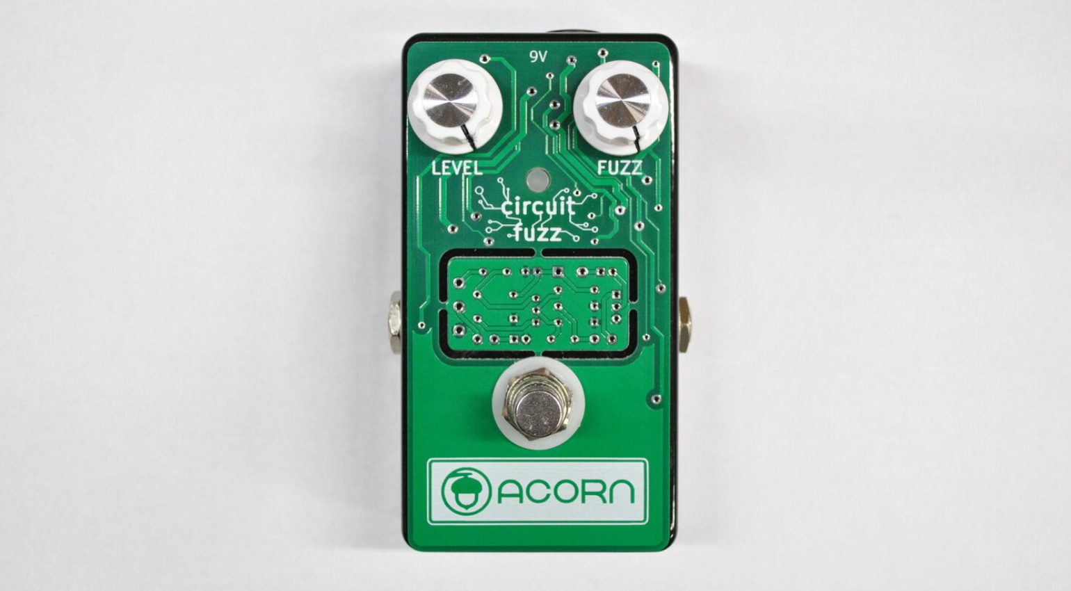 Acorn Amplifiers Circuit Fuzz Boost Pedal DIY PCB Front