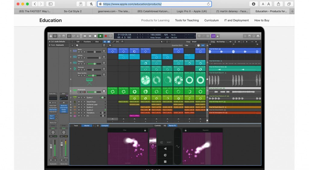 Apple Eduction Screenshot - ist das Logic 11?