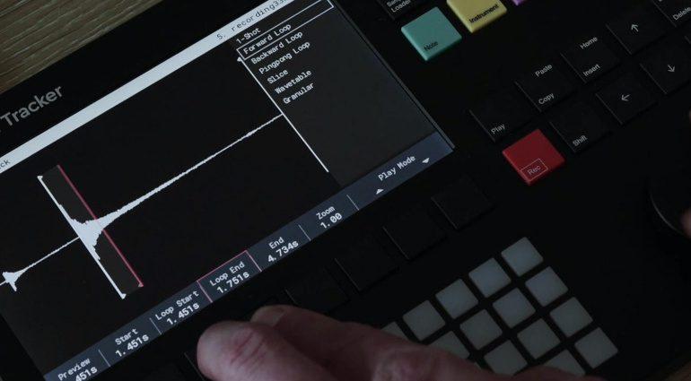 Polyend Tracker: der Tracker Sequencer und das Display