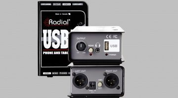 DI-Box für Smartphones und Tablets: Radial Engineering USB-Mobil.