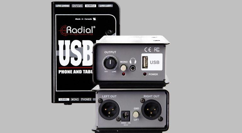 DI-Box für Smartphones und Tablets: Radial Engineering USB-Mobil.