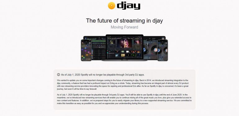 Achtung: In kürze kein Spotify-Streaming mehr für DJ Apps & Software