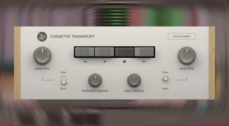 Freeware: Wavesfactory Cassette Transport - kostenloses Tape Stopp Plug-in