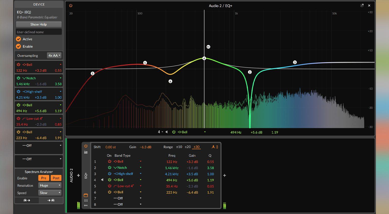 Bitwig Studio 3.2 EQ+