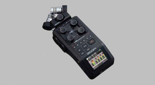 Zoom H6 Black: kompakter Handy Recorder für Musiker und Content Creator