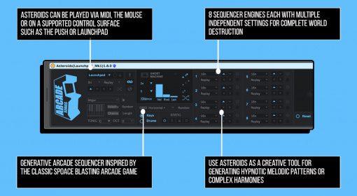 Isontonik Studios Asteroids: Generativer Sequencer für ein paar Tage kostenlos