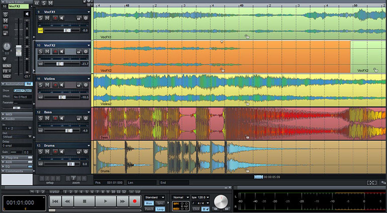 Magix Samplitude Pro X5 WaveColor