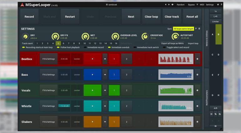 MeldaProduction MSuperLooper: ein Live Looper mit viel Workflow