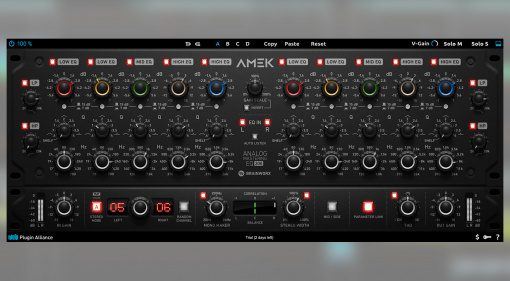Plugin Alliance veröffentlicht den AMEK EQ 200 Mastering Equalizer