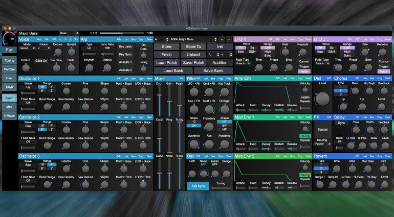 Sigabort MIDISynth Controller und Librarian für Synthesizer