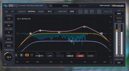TBProAudio DSEQ: automatischer dynamischer Zwölfband Equalizer