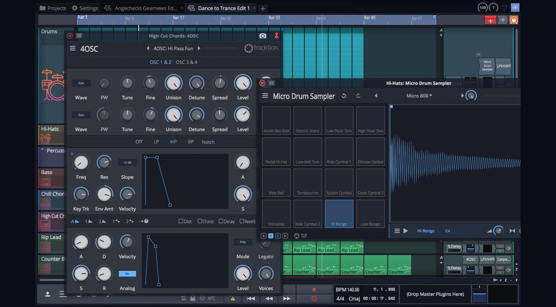 4OSC Synthesizer und Micro Drum Sampler