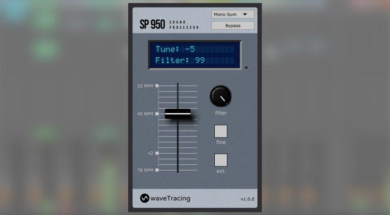 waveTracing SP950: der Sound des SP-1200 und S950 in einem Plug-in