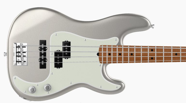 Fender Mod Shop inca Silver Precision Bass