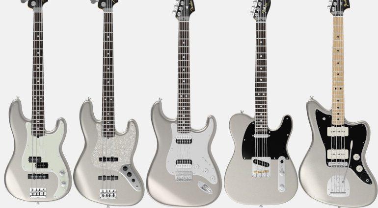 Fender Mod Shop inca Silver Stratocaster Telecaster Jazzmaster Jazz Precision Bass