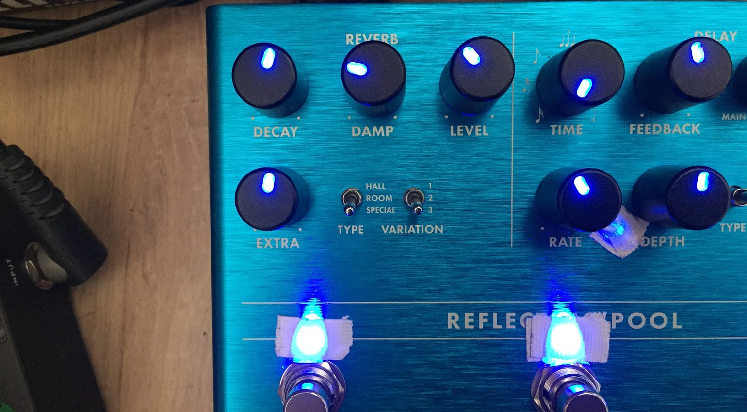 Fender Reflecting Pool Reverb Delay Effekt Pedal Reverbeffekt