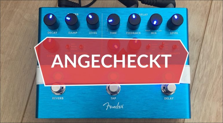 Fender Reflecting Pool Reverb Delay Effekt Pedal Teaser