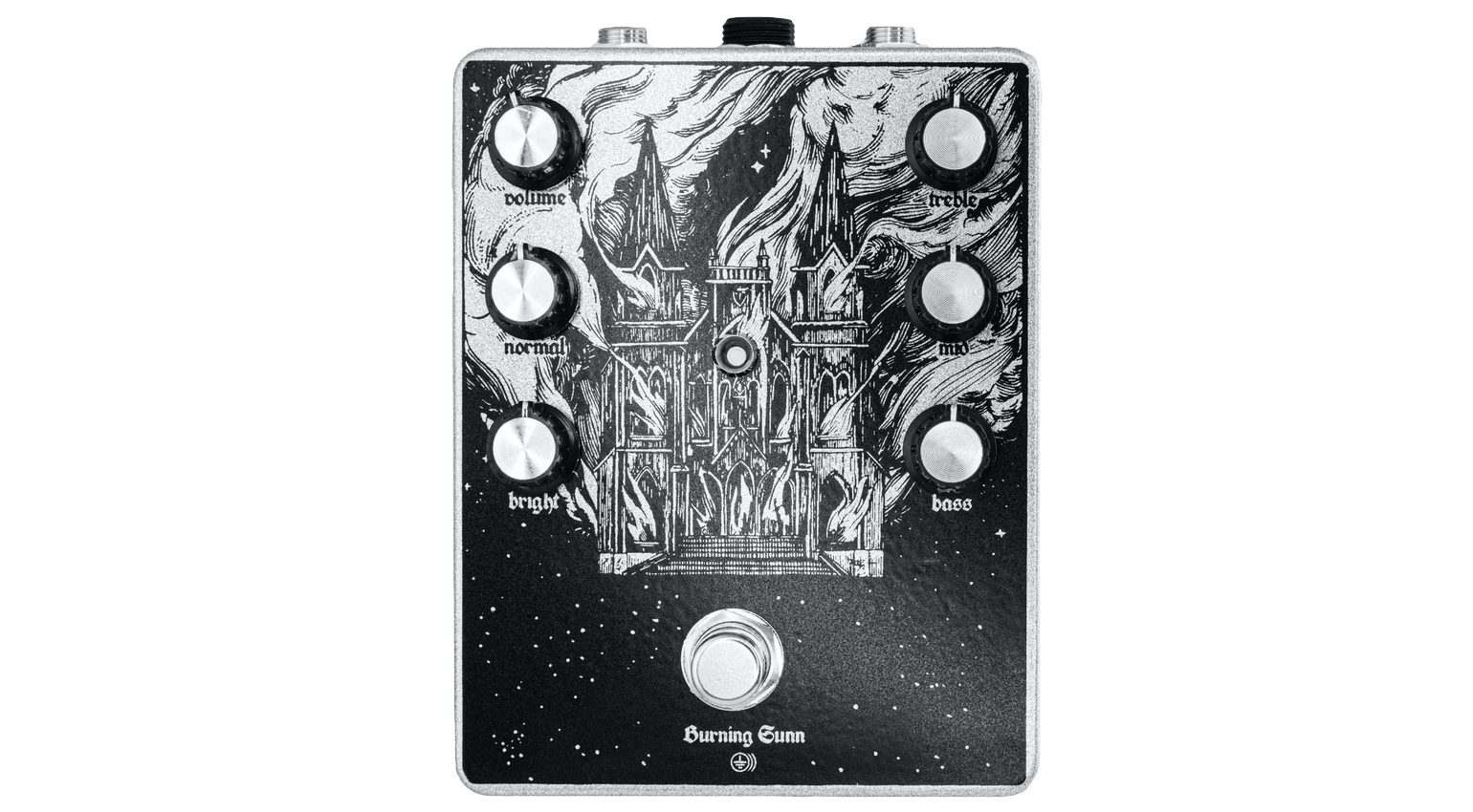 Ground FX Burning Sunn Effekt Pedal Front