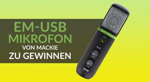 Mackie EM-USB Mikrofon zu gewinnen