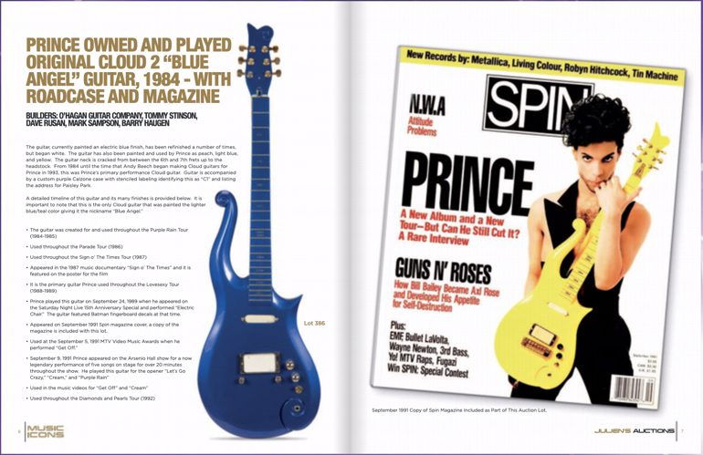 Prince Cloud 2 Blue Angel E-Gitarre Auktion Echtheit