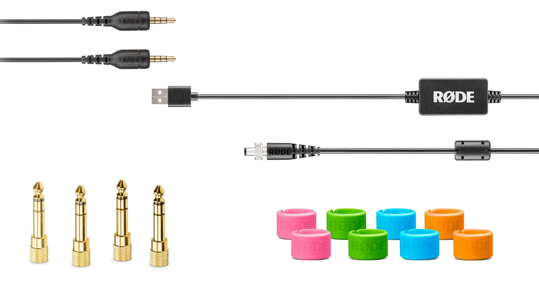 Rode SC9, DC-USB1, HJA-4 und XLR-ID