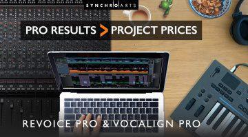 Deal: Synchro Arts VocAlign 4 und Revoice 4 mit 50 Prozent Rabatt!