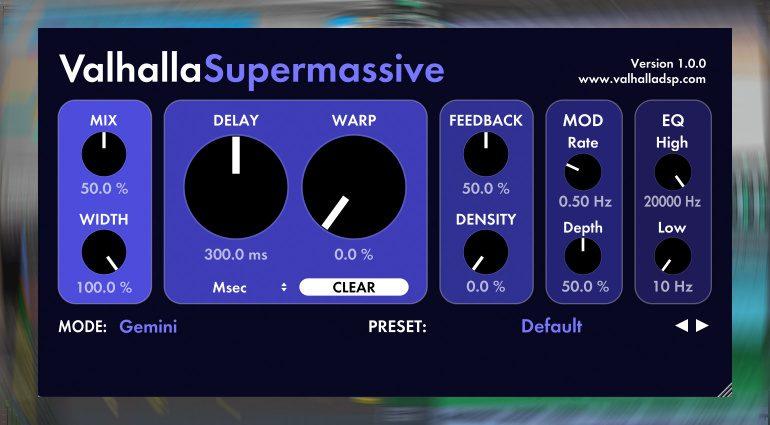 Kostenlos: Valhalla DSP verschenkt Supermassive Delay und Reverb Plug-in