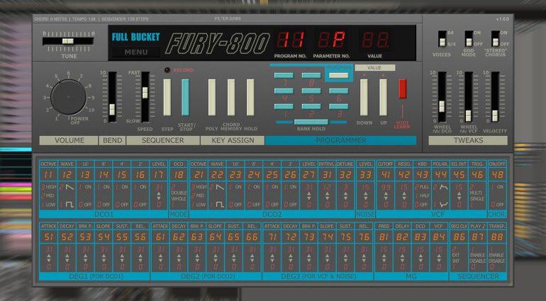 Kostenlos: Full Bucket Music Fury-800 - die Korg Poly-800 Emulation